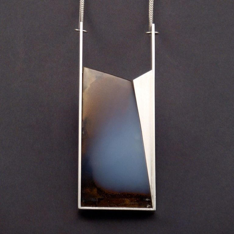 COLLIER - STERLING-SILBER MIT CALCEDON