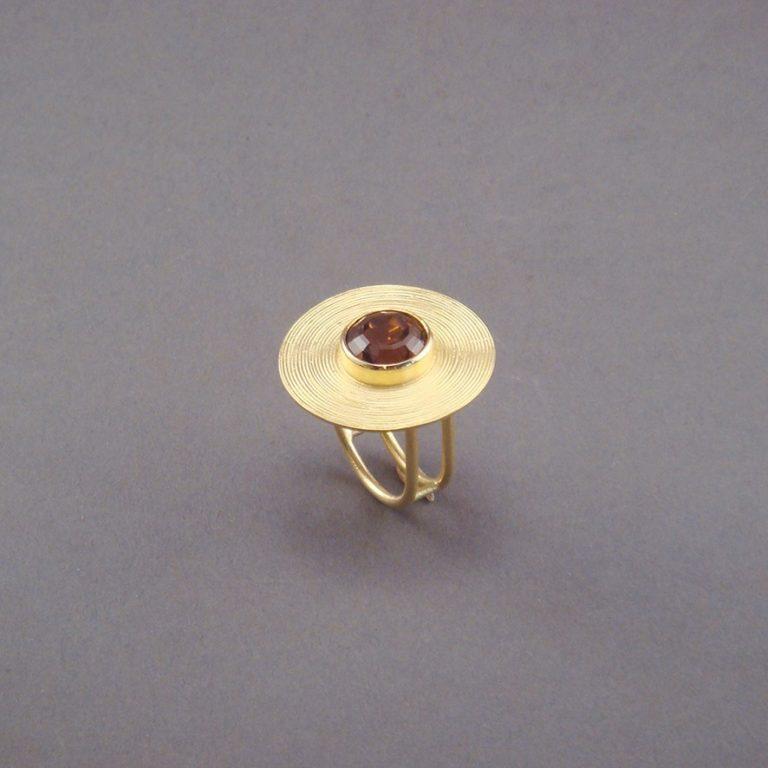 RING - GOLD MIT TURMALIN