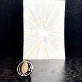 Ring - geschwärztes Silber, Boulder-Opal