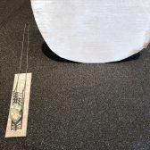 Collier - geschwärztes Silber, Aquamarinkristalle auf Quarz