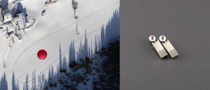 Roter Ballon von oben, Steiermark + Ohrschmuck, Silber, kristallisierter Achat, Rubin